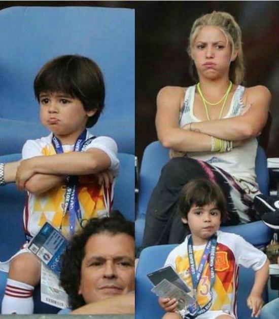 بالصور شاكيرا تكشف من يشبهها من طفليها ومن يشبه والده بعد أن كبرا في العمر