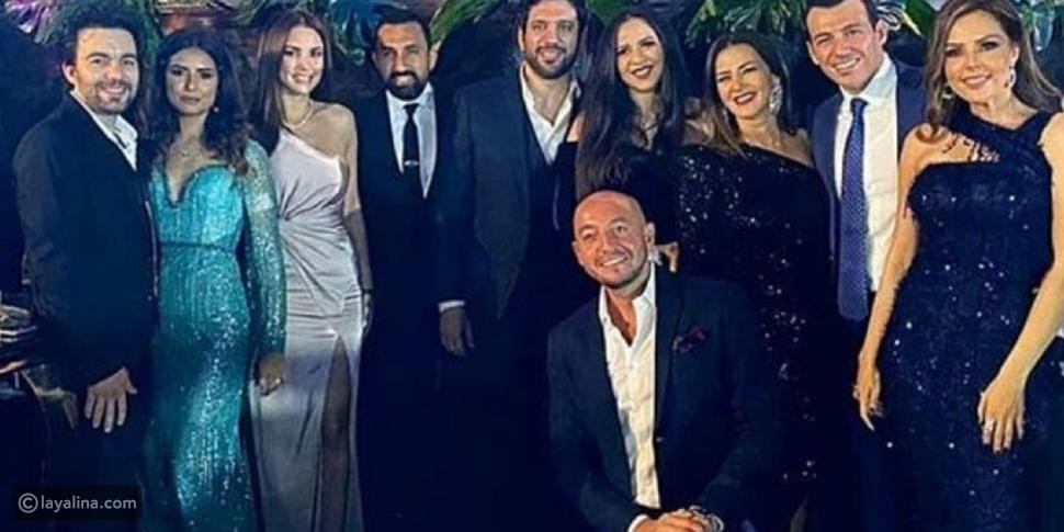 درة تظهر للمرة الأولى بعد الزواج بحفل زفاف هنادي مهنا وأحمد خالد صالح