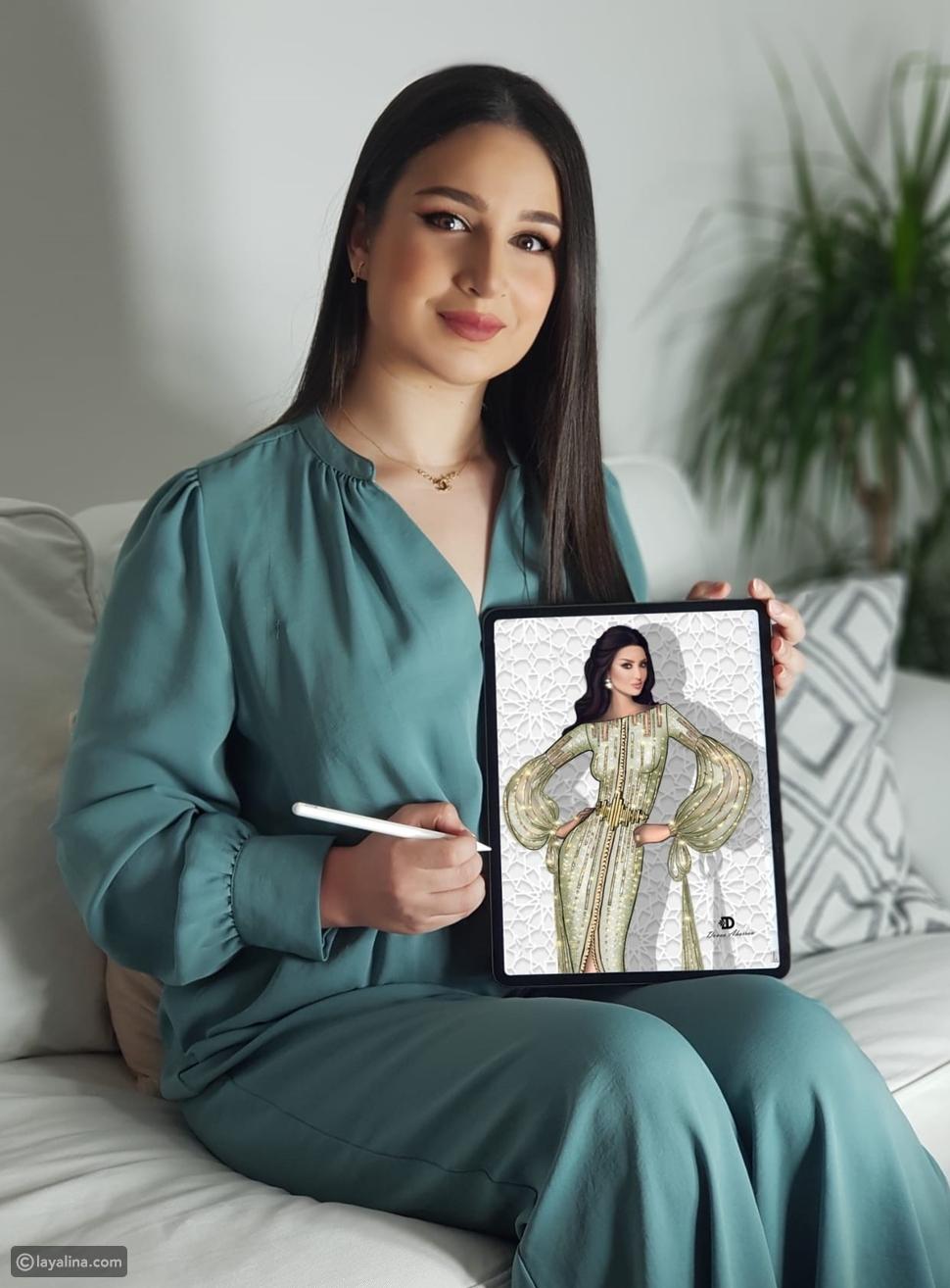 مصممة الأزياء سلمى بن عمر تحمل التصميم الفائز