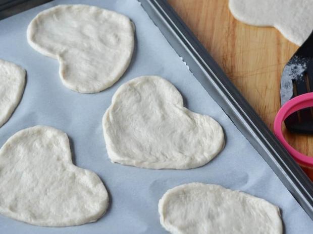 طريقة تحضير قلوب البيتزا بالخضار لعيد الحب