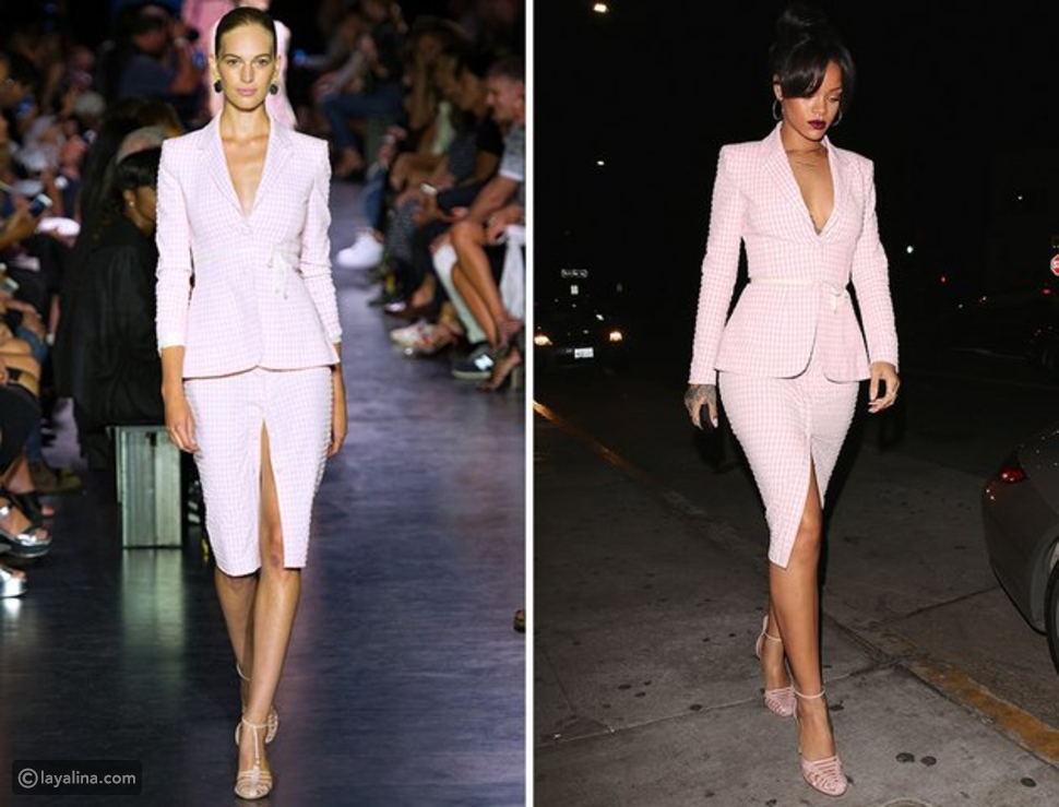 إطلالات ريانا التي أخذتها مباشرة من منصات عروض الأزياء، ما الإطلالة المفضلة لديك؟