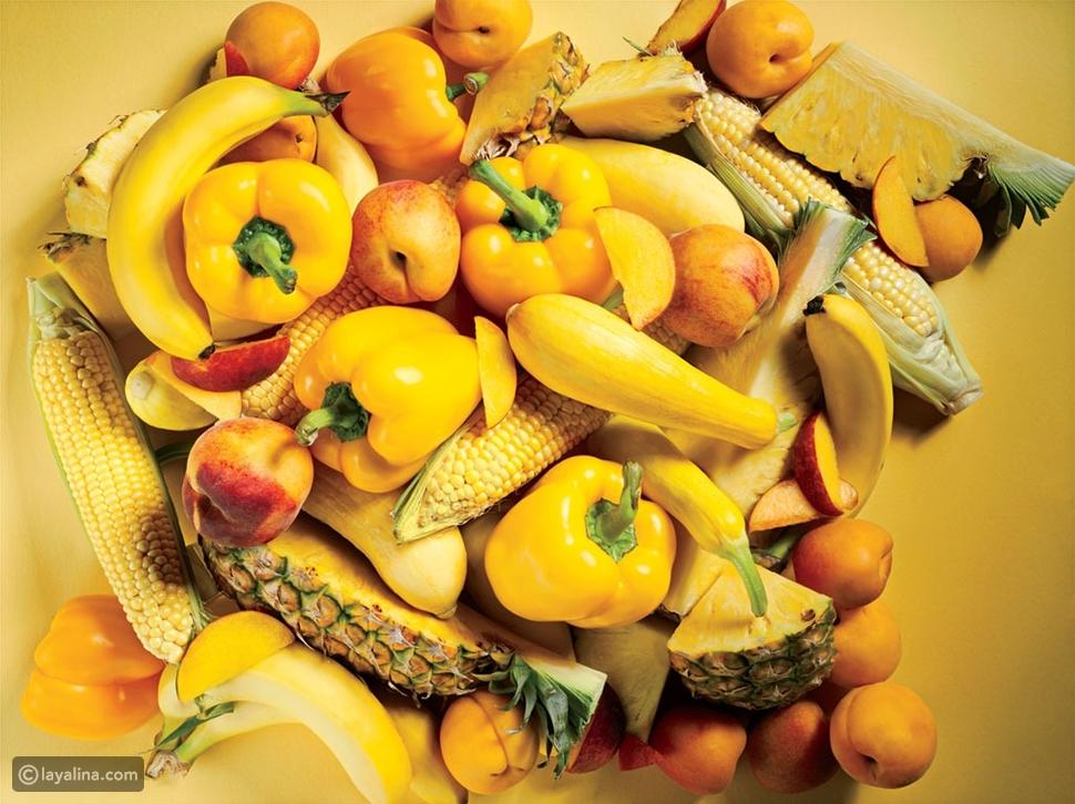 اللونالأصفر والبرتقالي
