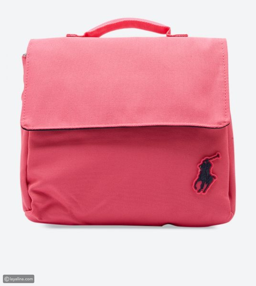 حقيبة الطعام باللون الزهري من بولو رالف لورين