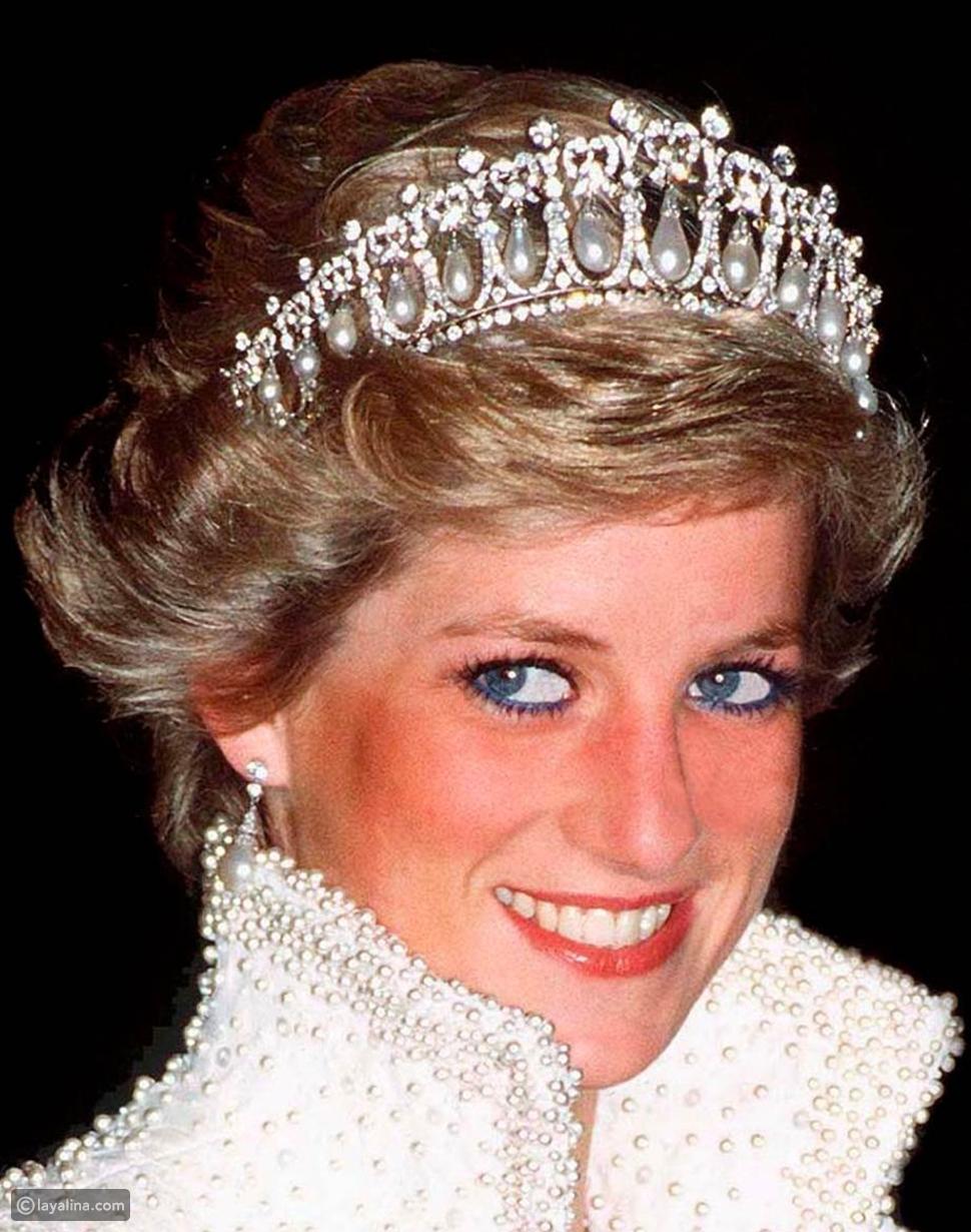 الأميرة ديانا وتاج عقدة كامبريدج لوفر