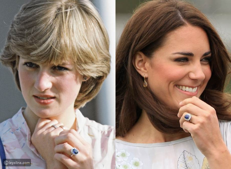 خاتم خطوبة الأميرة ديانا وكيت ميدلتون من الياقوت