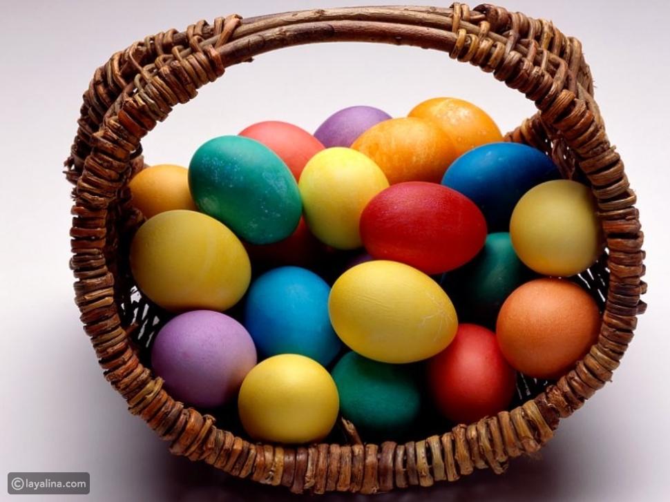 طريقة تلوين البيض الملون لعيد الفصح