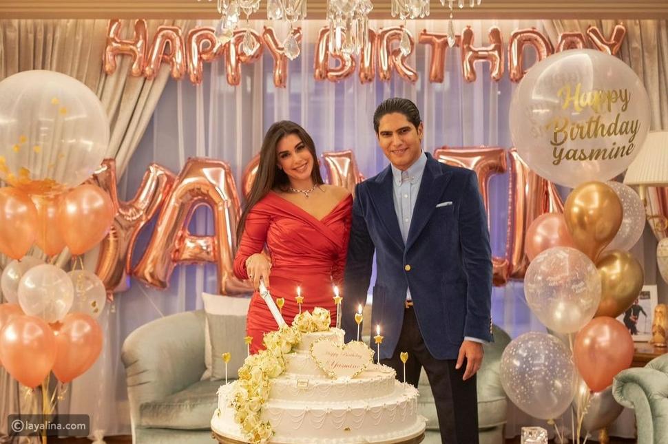 ياسمين صبري بفستان أحمر في عيد ميلادها من Dolce & Gabbana هذا سعره