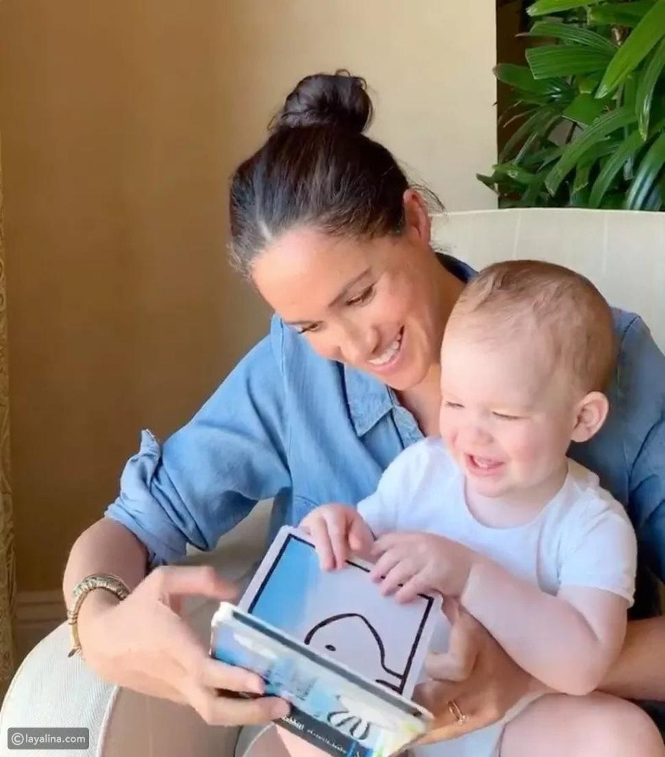 ميغان ماركل مع ابنها