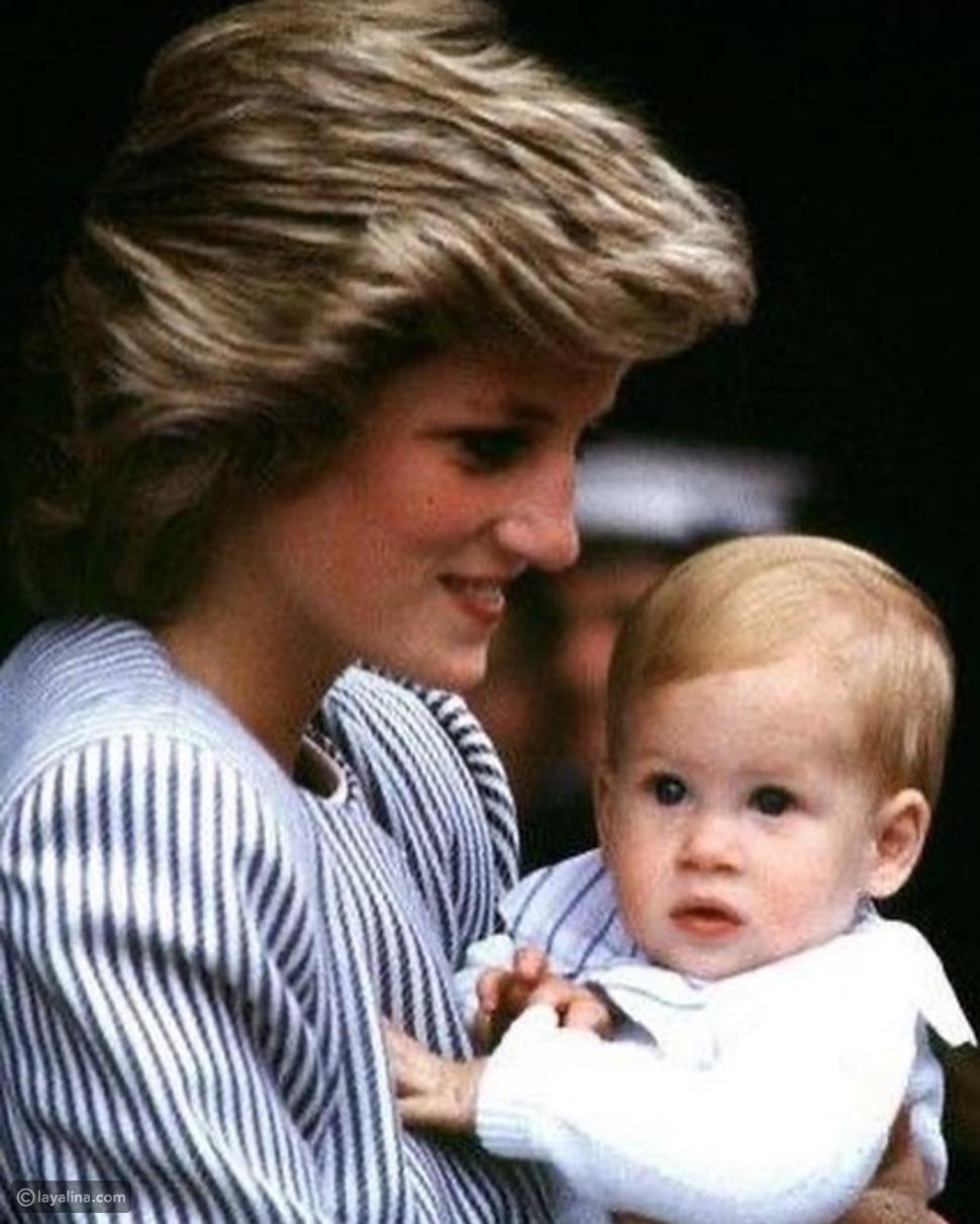 الأمير هاري خلال طفولته