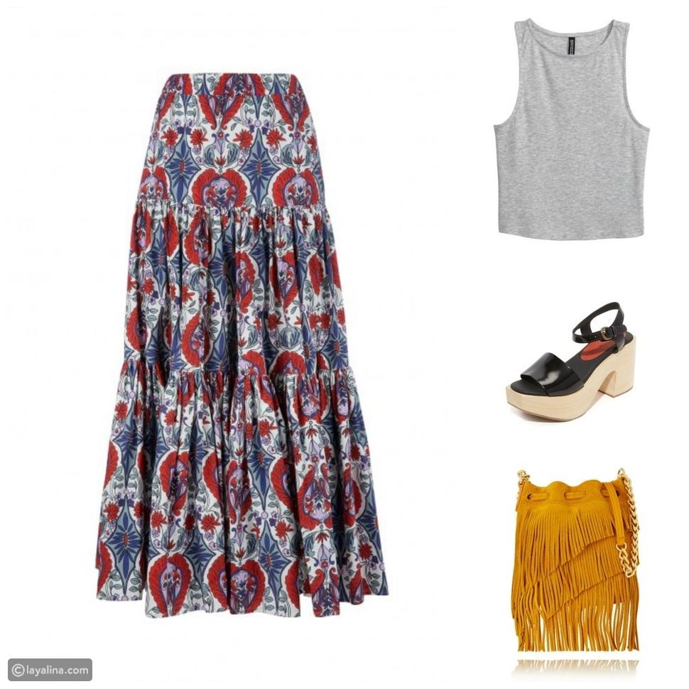 طرق عصرية لارتداء التنورة الماكسي في صيف 2016