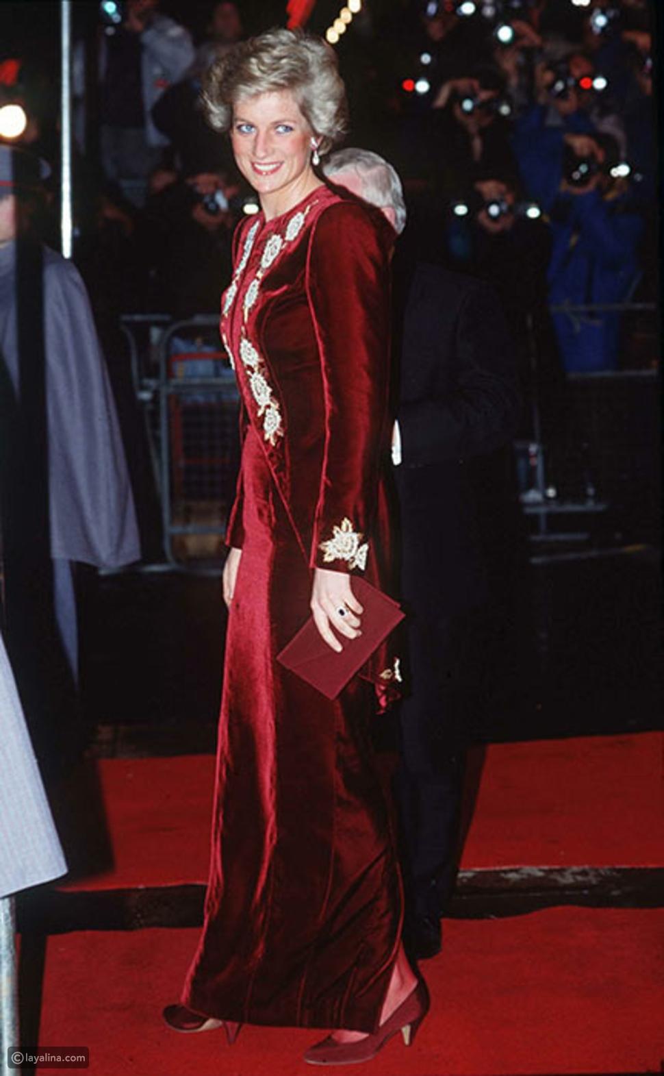 تألقب بالأحمر مثل الأميرة ديانا Princess Diana