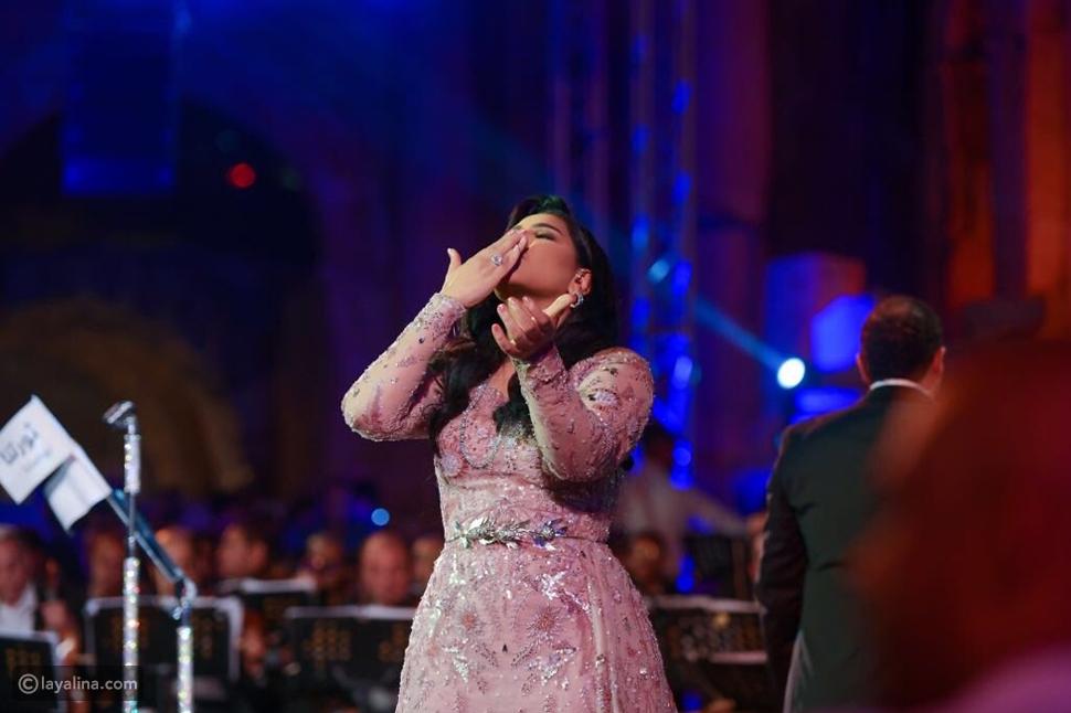 إطلالة أحلام الملكية في مهرجان جرش