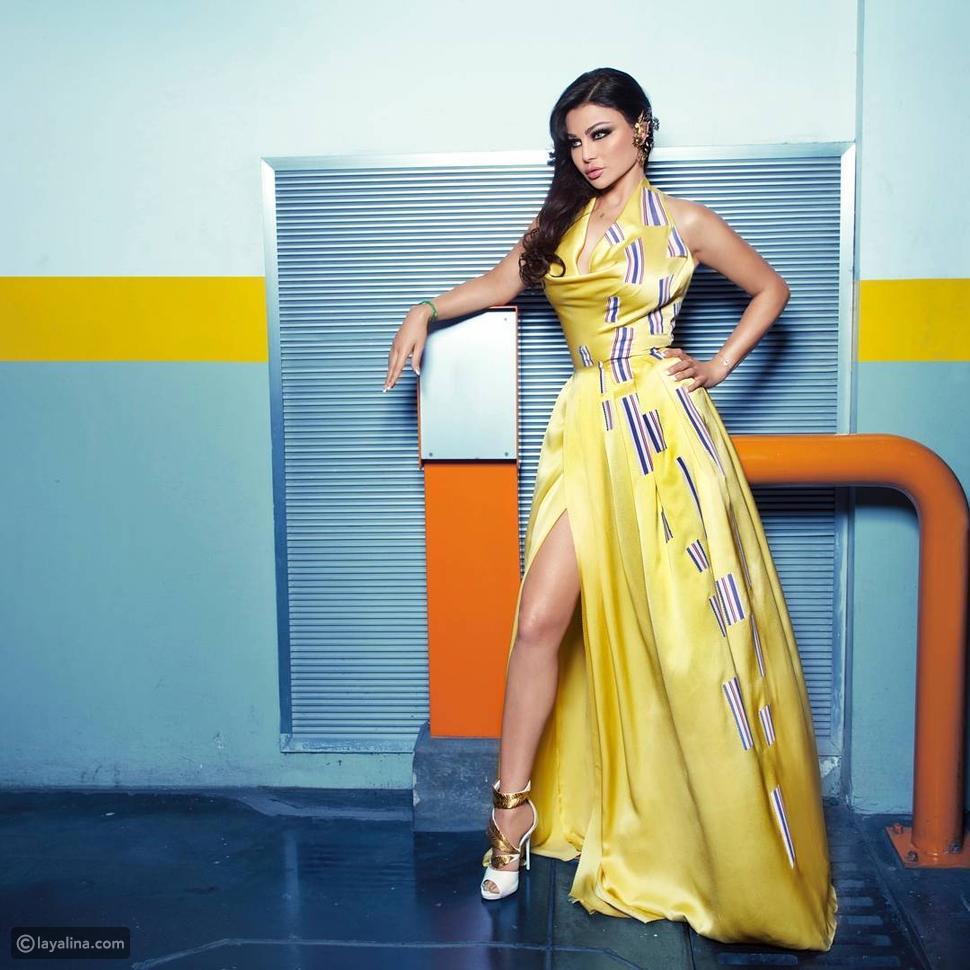 فيديو وصور هيفاء وهبي تتغزل في نفسها بعد ارتدائها الفستان الأول من برنامج  Project Runway