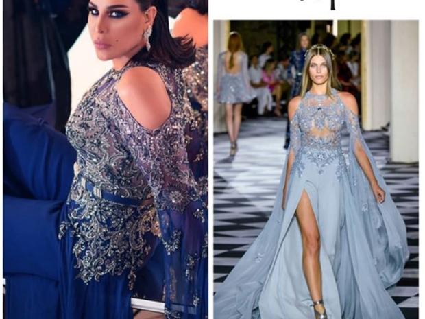 أحلام بفستان من تصميم زهير مراد