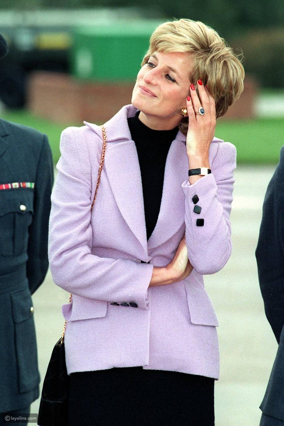 الأميرة ديانا ترتدي ساعة TanksمنCartier