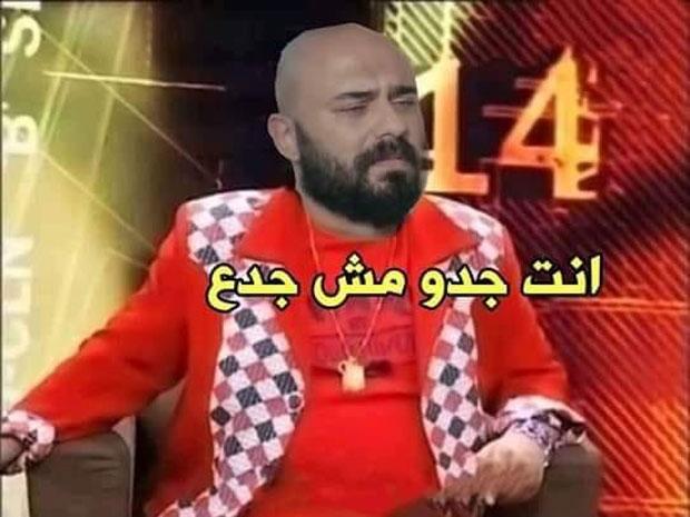 صورة ساخرة من حوار الفنان أحمد صلاح حسني في مسلسل حكايتي
