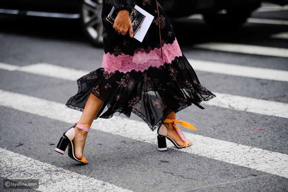 حذاء ذات كعب سميكthick heel