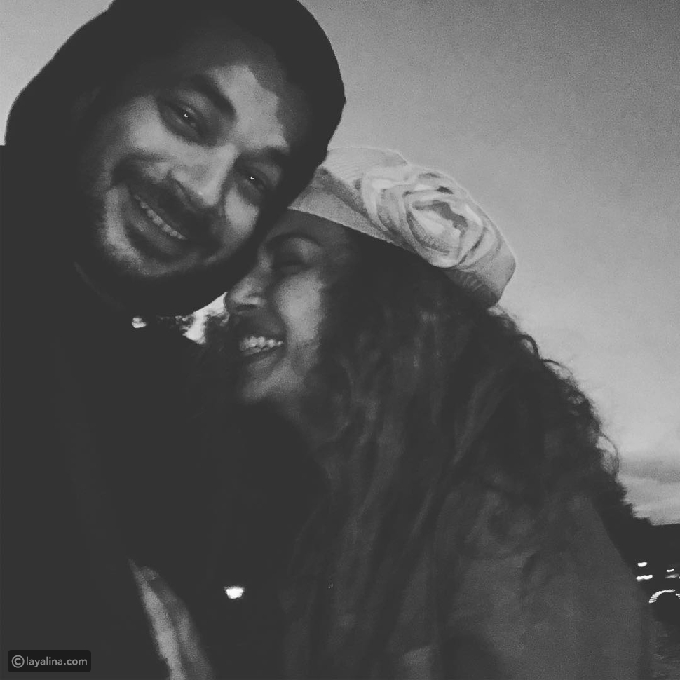 صورة غاية في الرومانسية تجمع داليا مصطفى مع زوجها شريف سلامة