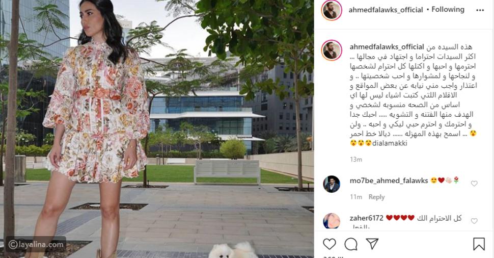 أحمد فلوكس يوجه رسالة حب لديالا مكي