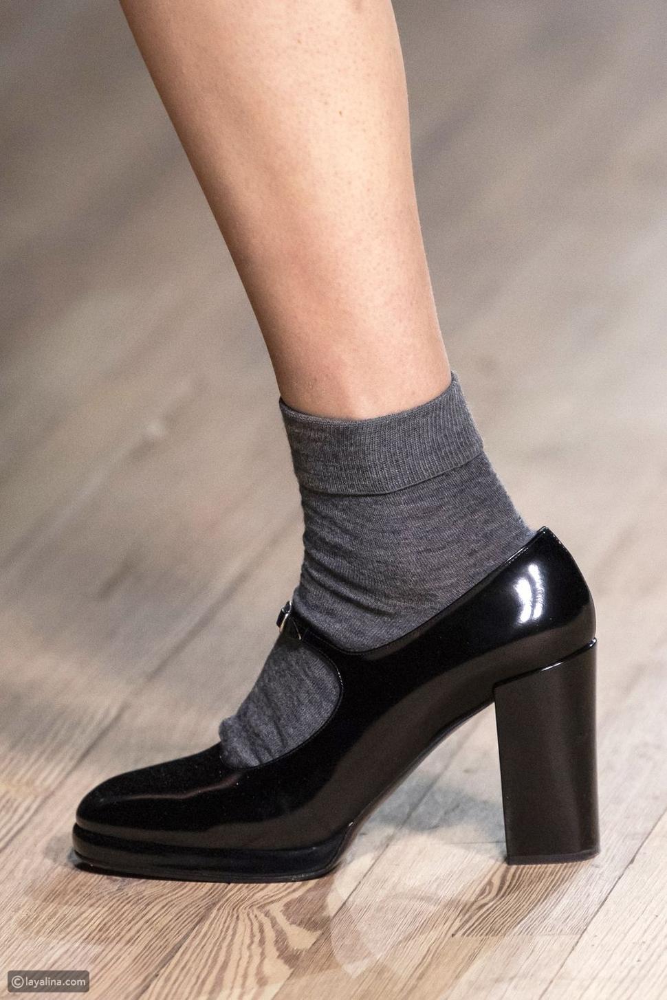 حذاء ماري جينس جلد