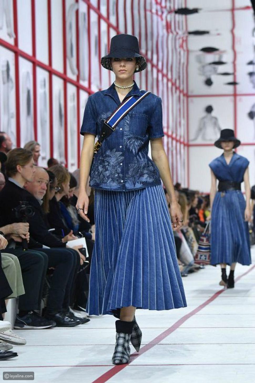 أزياء من الجينز في بيت أزياء ديور