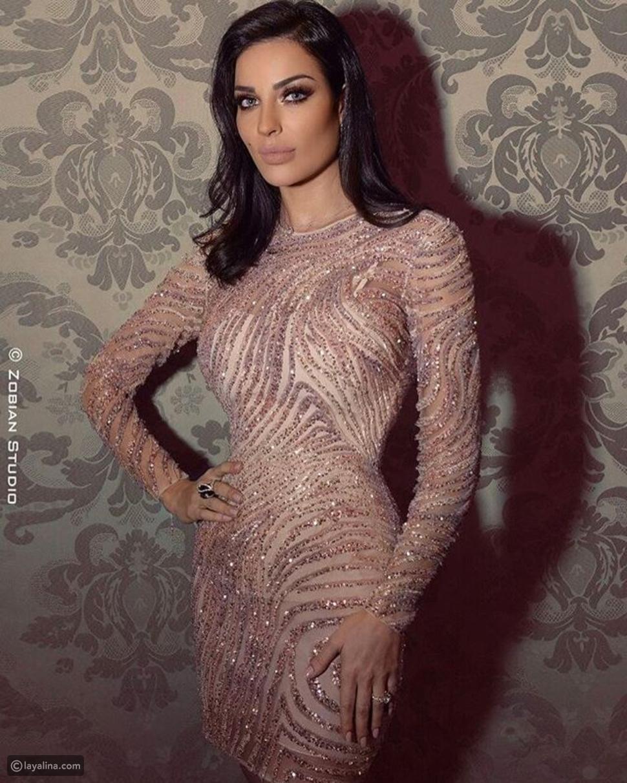 فستان نادين نسيب نجيم من تصميم زهير مراد