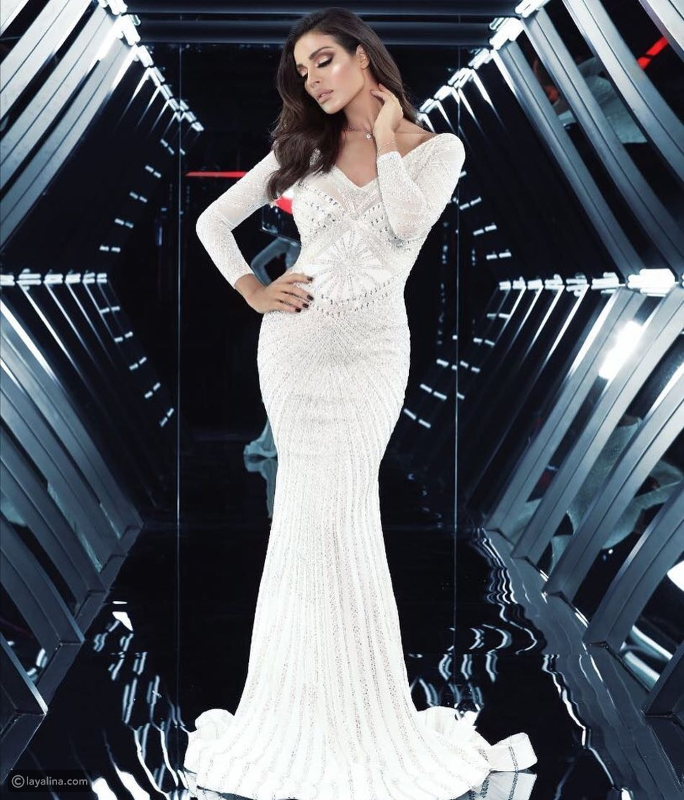 فستان نادين نسيب نجيم من تصميم شربل زوي