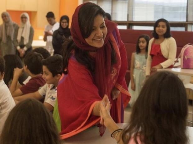 الأميرة ريما بنت بندر تحتفل باليوم الوطني السعودي مع الأطفال