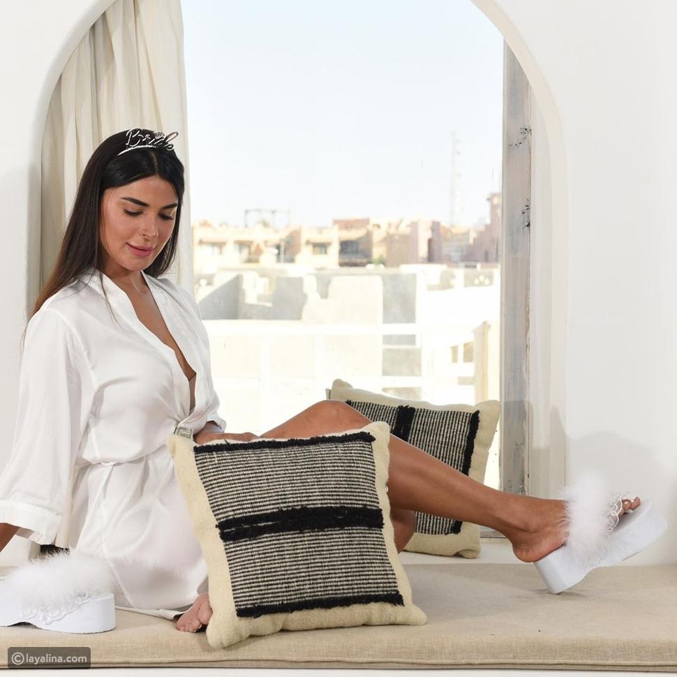 نورهان منصور احتفلت بزفافها