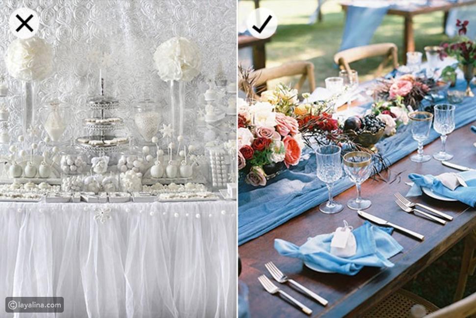ديكور حفل الزفاف باللون الأبيض