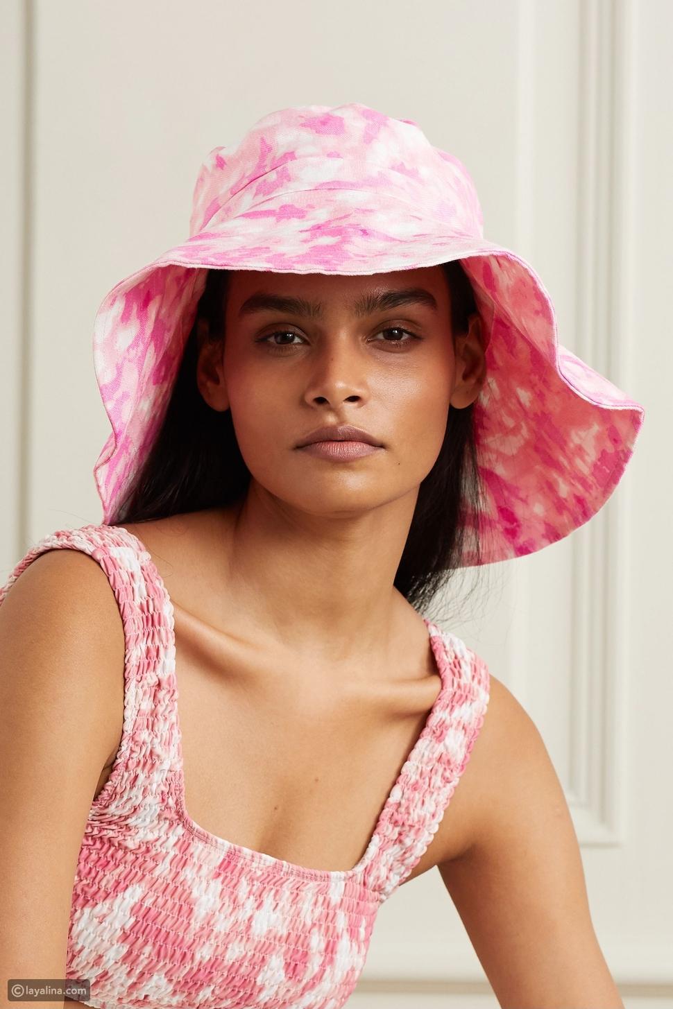 قبعة من الكتان المصبوغ بالرباط من Frederikke