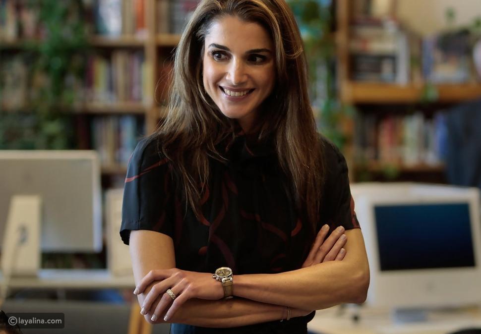 أظافر الملكة رانيا