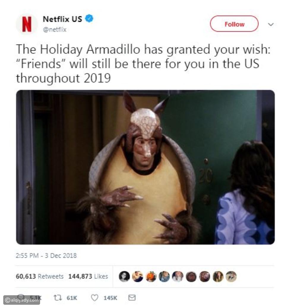 نتفليكس Netflix تُعلن موقفها النهائي من حذف مسلسل Friends