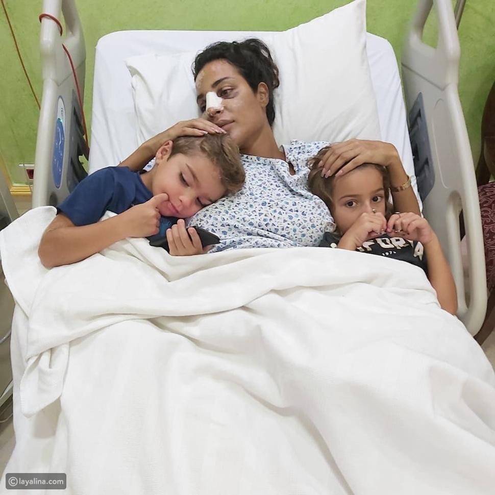 نادين نجيم في المستشفى بعد انفجار بيروت