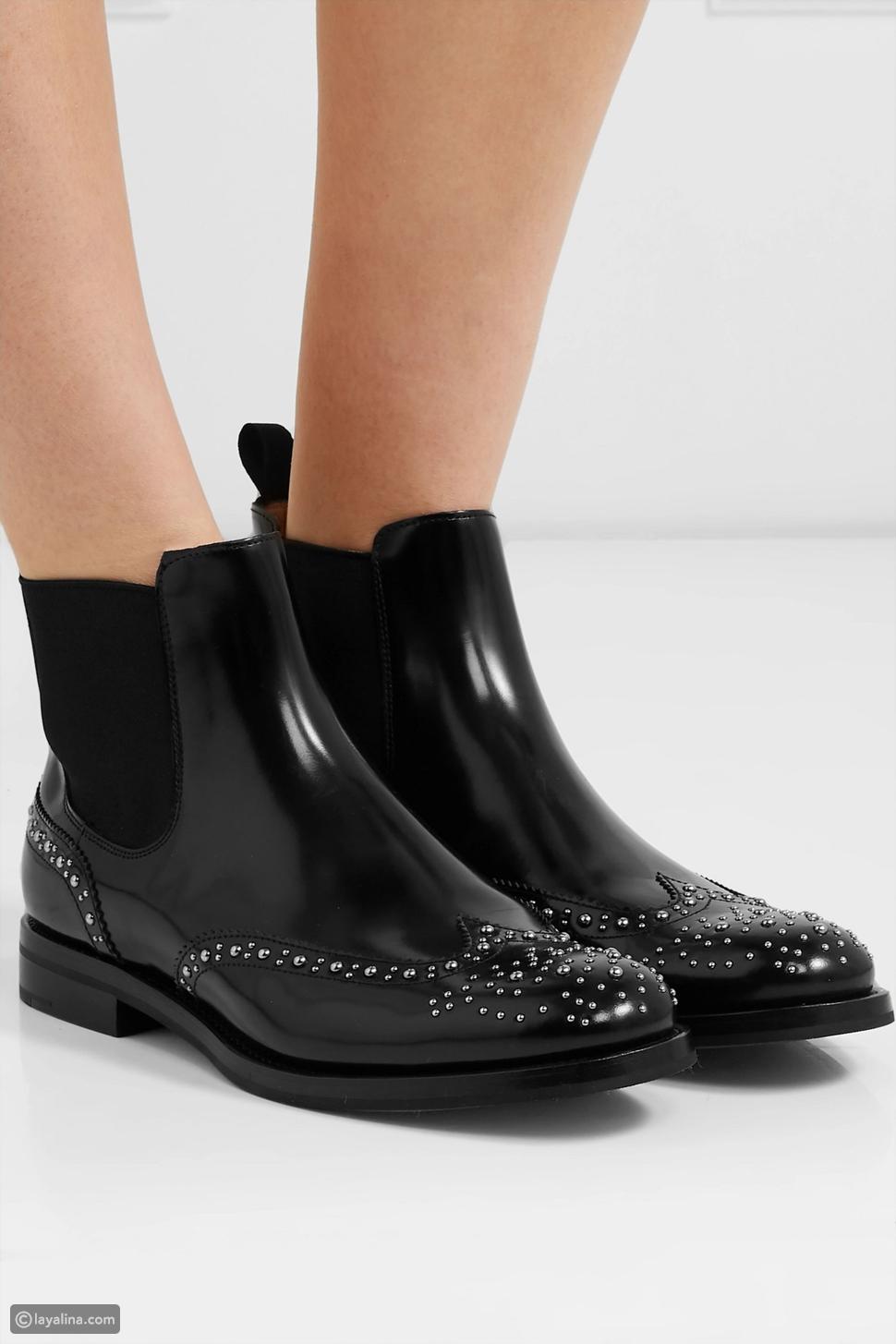 أحذية Ketsby الجلدية