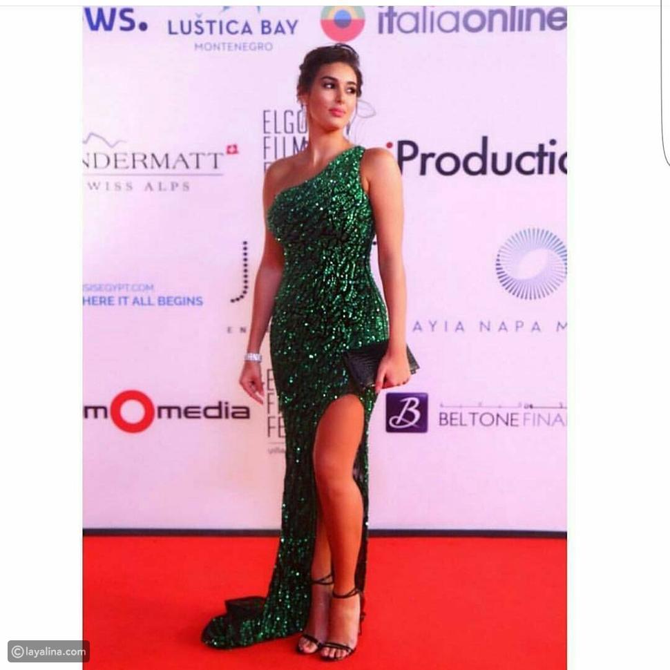 فستان ياسمين صبري في ختام مهرجان الجونة السينمائي