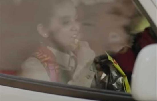 مشهد لابنة محمد رمضان في مسلسل البرنس