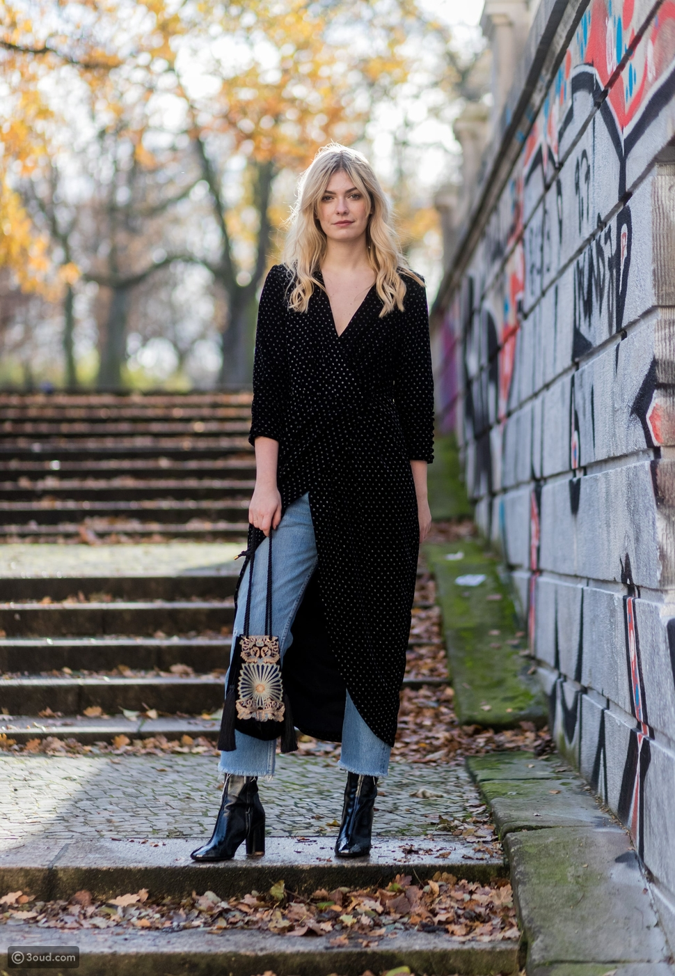 Long Abaya Style with Jeans
