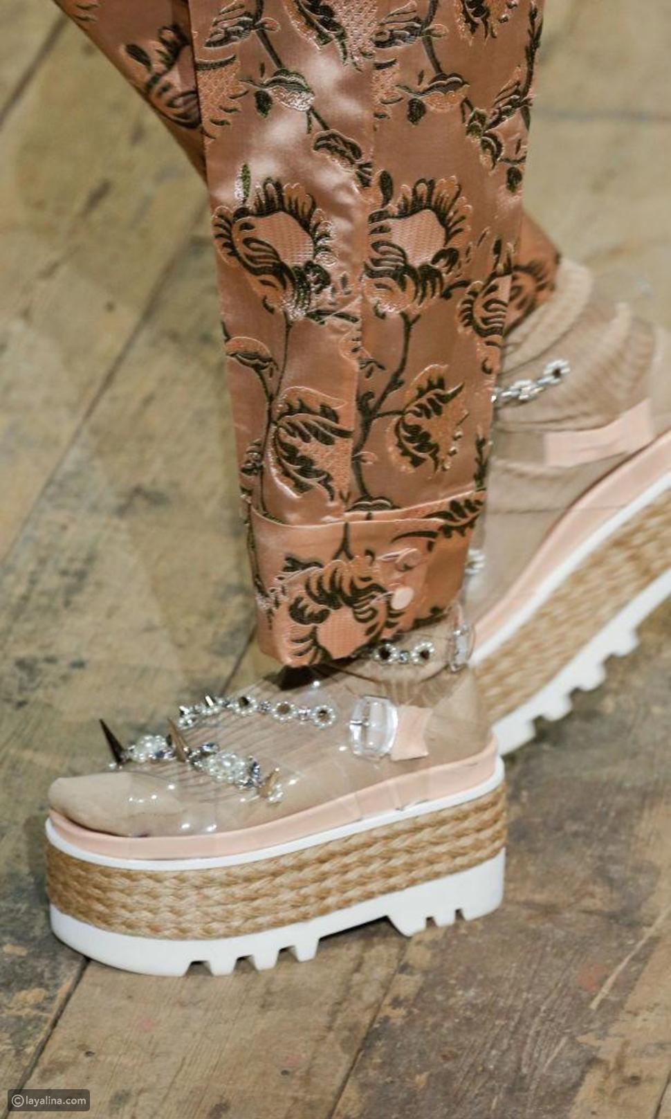 أحذية مكتنزةUltra-chunky platforms
