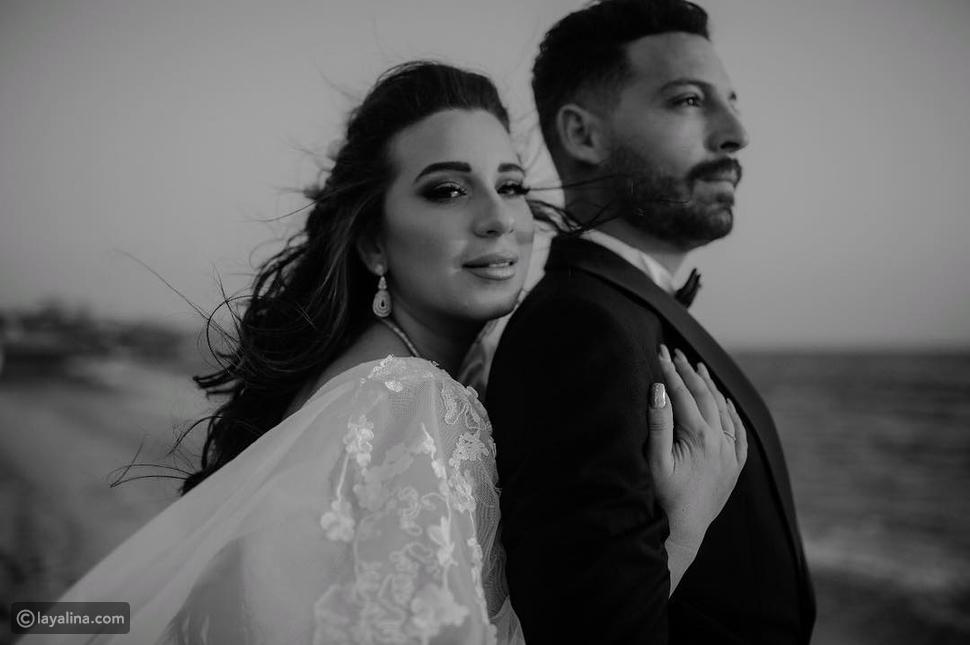 صورة من زفاف أسما شريف منير ومحمود حجازي