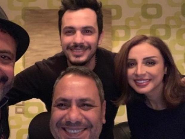 أنغام وزوجها الموزع أحمد إبراهيم