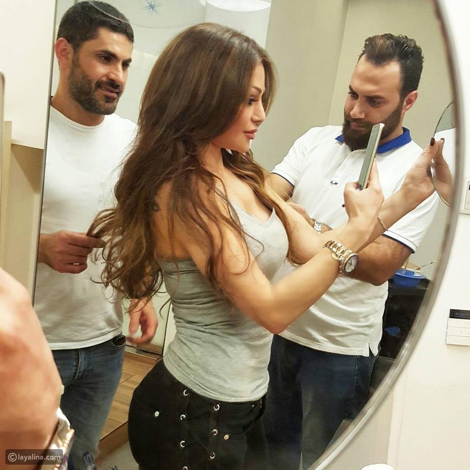 صور هيفاء وهبي تغير لون شعرها عن الأحمر إلى لون من اختيار جمهورها هل ناسبها؟