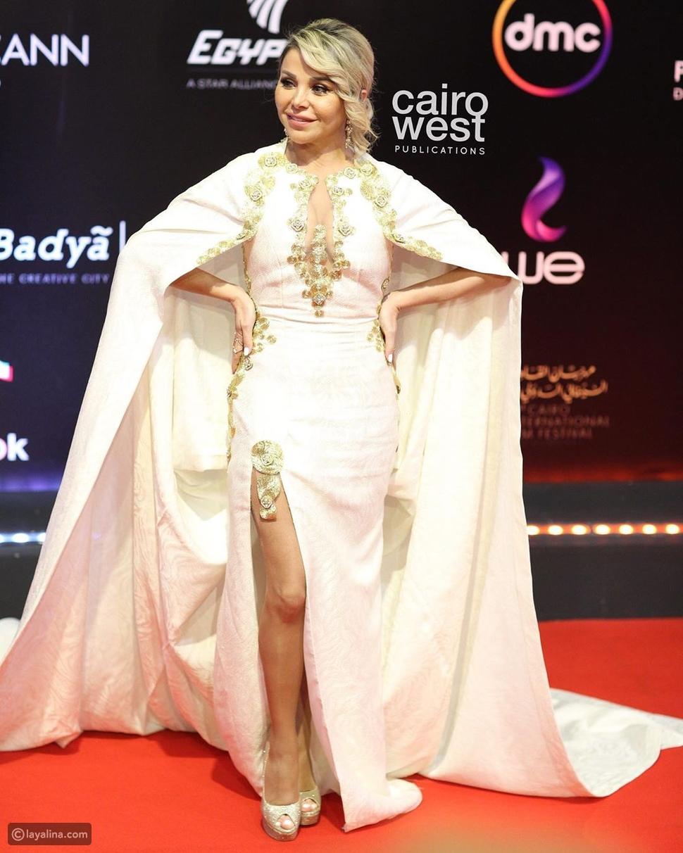 فستان رزان مغربي يحمل رسالة لنيلي وشيريهان في ختام مهرجان القاهرة!