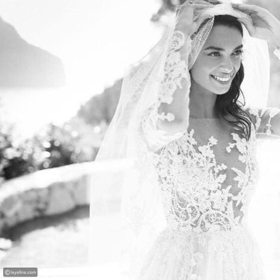 فستان زفاف جوانا سانز من تصميم زهير مراد