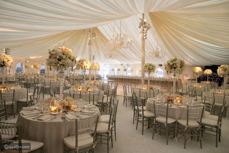 زينة مكان إقامة حفل الزفاف - إتيكيت الأعراس