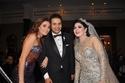 الفنانة سيرين عبد النور والعروسان محمد ويسرا