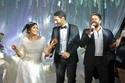 صورمحمد حماقى وتامر حسنى يتألقان فى حفل زفاف احمد ودينا