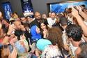 صور ياسمين عبد العزيز تحتفل بفيلمها الجديد أبو شنب مع جمهورها