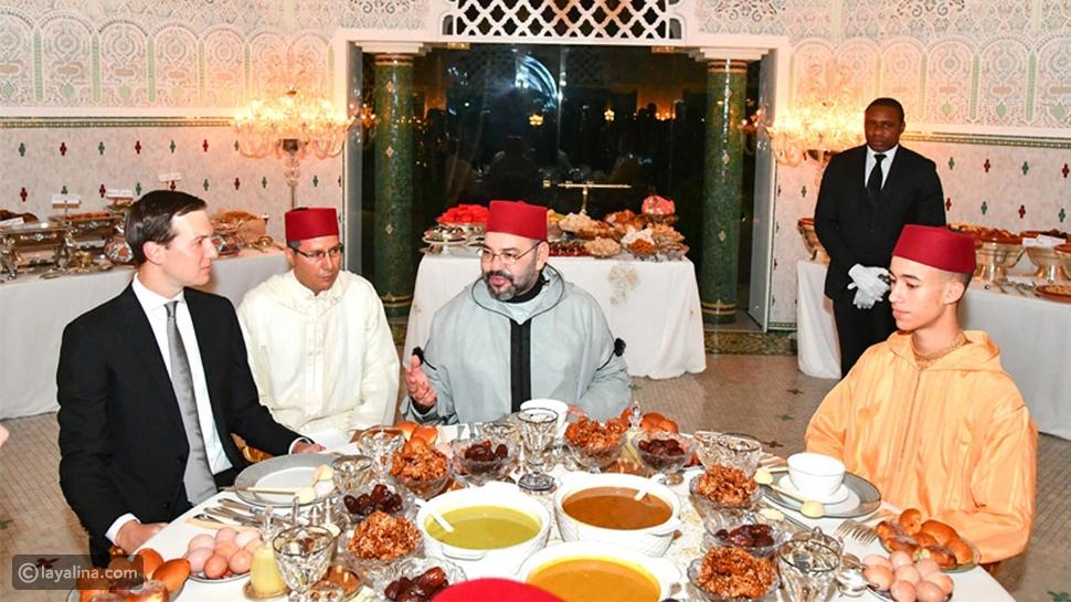أما عاهل المغرب محمد السادس فهو يحب تناول الأطعمة المغربية التقليدية خصوصاً الحريرة، حتى إذا كان يستضيف ضيوفاً من خارج المفرب.