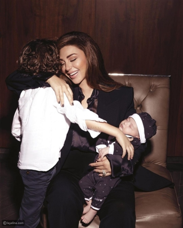 ميريام فارس في أول جلسة تصوير تجمعها مع أبنائها: هذا سعر إطلالتها